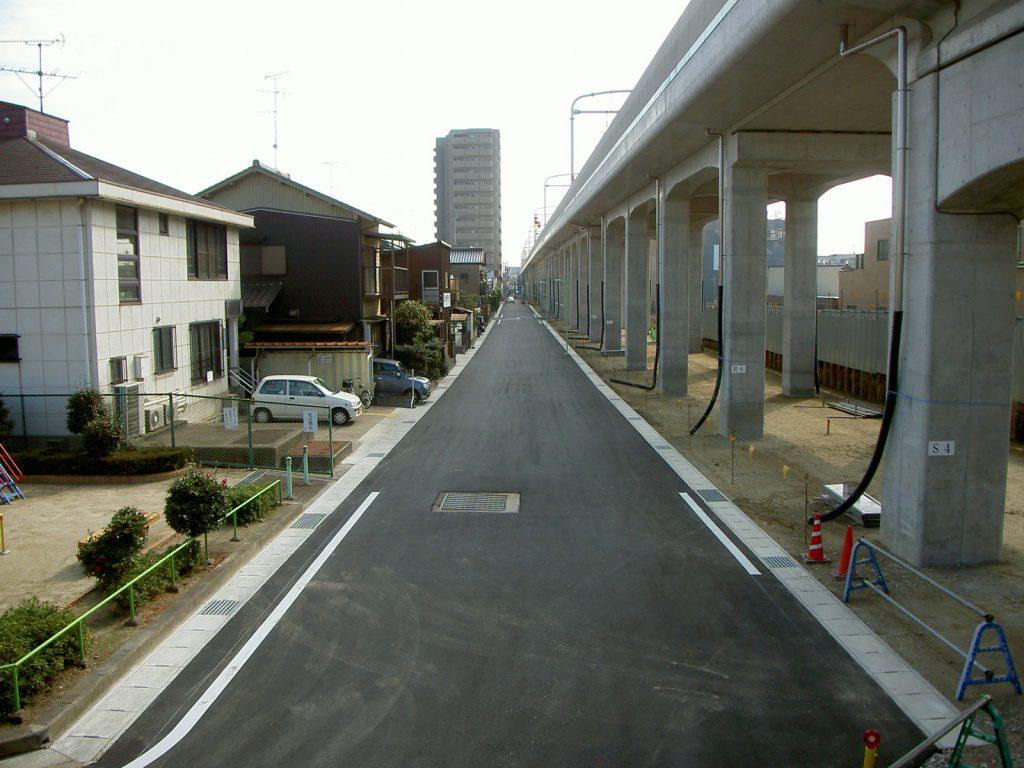 鳴海道路工事